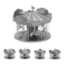 Assembly merry-go-round 3D Amusement Park Carousel Metal Puzzle Models Educational Toys For adult Children Gift Brain Teasers