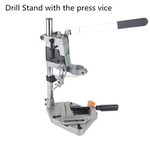 Electric Drill Stand Bench Drill Press Stand Double Clamp Base Frame Drill Holder with Drill Press Vice(China)