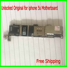 32gb for iphone 5s Mainboard with Chips,100% Original Unlocked for iphone 5s Motherboard without Touch ID Function,good quality(China)