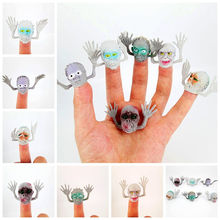 Puppets finger toys plush finger puppets set Novelty green PVC Gray Kito finger even story mini finger sets of toys(China)