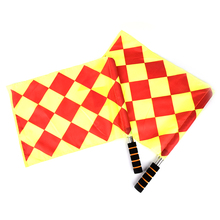 Hot Sale new Referee Soccer Flag The World Cup Fair Play Sports Match Football Linesman Flags Referee Equipment + Carry Bag