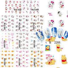 11 Designs in 1 set Cartoon Bear Nail Art Decals Water Transfer Foil Wraps Nail Sticker Decoration Watermark Tips BEBLE2259-2269(China)