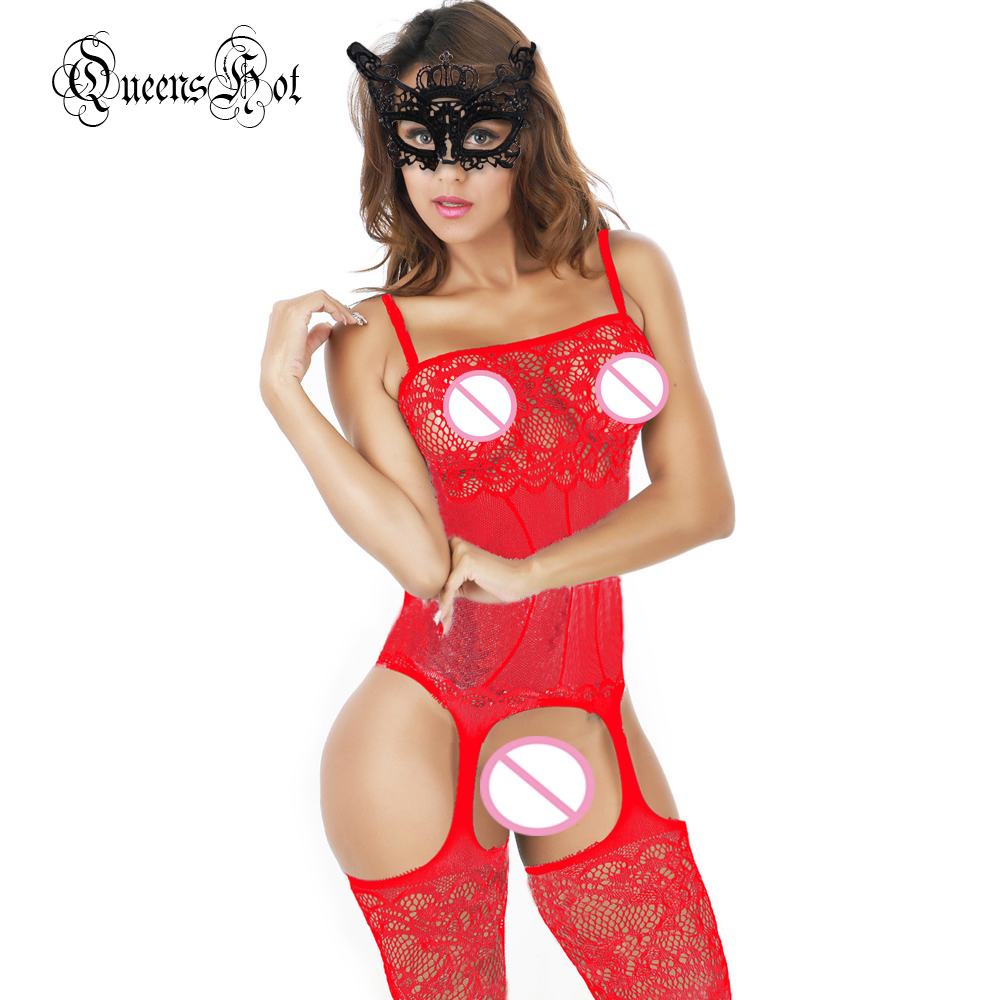 Women Lace Erotic Sexy Lingerie Babydoll Suspender Corset Basques Waistcoat Bodysuit Latex Catsuit Stocking Costumes + Eyemask 7