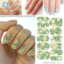 Rocooart KH014A Fashion Nail Sticker Water Transfer Nails Art Sticker Cartoon Element Morning Glory Manicure Decor Foil Decals