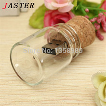 JASTER 100% real capacity new arrival messenger bottle usb memory glass drift bottle usb flash drives srong packing gift