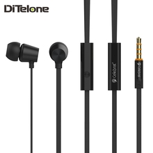 DiTelone N2 Earphones Wired Sports Bass Stereo Earbuds With Mic In Ear 3.5mm Plug For iphone Xiaomi PC Black/Gold/White/Pink
