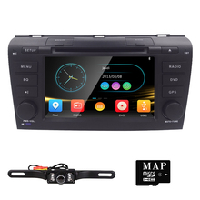 Car DVD Player GPS Navigation for Mazda 3 Mazda3 2004 2005 2006 2007 2008 2009 with Radio BT USB SD AUX RCA Audio Video Stereo