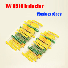 Free Shipping 15valuesX10pcs=150pcs 1W 0510 Inductor Pack 10UH - 4.7MH Assorted Kit(China)