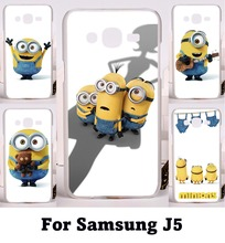 Popular Style Mobile Phone Skin For Samsung Galaxy J5 2015 j500 YC955 Cases Plastic and Silicon Cartoon Despicable Me Phone Bags
