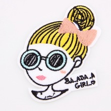 Embroidery Patches For Clothing 1Pcs Multi Fashion Girls Iron On Patches Applique DIY Accessory Clothes Stickers