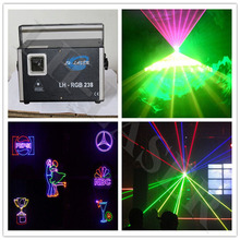45Kpps SD Card Full Color Analog Laser Animation Projector Show Light For Dj Clubs Party Stage Lighting(China)