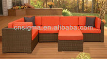 2014 Outdoor Furniture 6 Pc Sectional Sofa Sofas Living Room Furniture