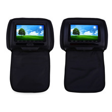 Paired XD783 7 Inch Car Headrest DVD Player 800 x 480 High Resolusion LCD Backseat Monitor with FM Transmitter Function(China)