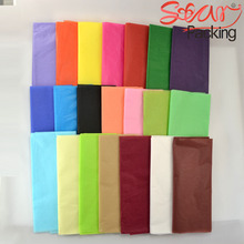 28 colors Size 50x70cm colorful single copy tissue paper wine,shirt,bag,shoes wrapping paper gift packing material 100pcs/lot