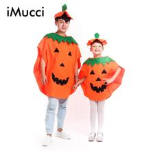 iMucci Halloween Costume Kids Cute Performance Costume Carnival Costumes Stage Clothes Pumpkin Cosplay Clothing Adult Apparel