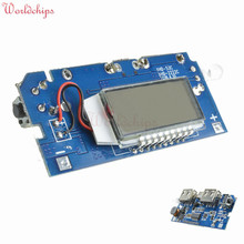 Dual USB 5V 1A 2.1A 18650 Battery Charger Board Mobile Power Bank Charging Module PCB LCD Display For Arduino Free Shipping
