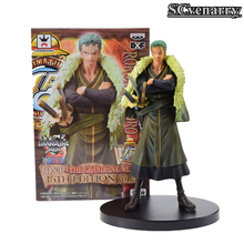 Anime One piece 15th Roronoa Zoro action figure toys doll collection Christmas toy 17cm(China)