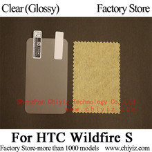 Clear Glossy LCD Screen Protector Guard Cover protective Film Shield For HTC Wildfire S G13 A510e A510c PG76110(China)