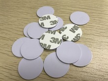 1000pcs/lot 23mm original mifare M1 13.56MHZ sticker rfid coin tag for Access Control Guard Tour Patrol System Checkpoint