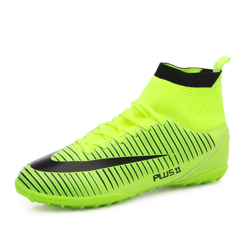 Indoor futsal soccer boots sneakers men Cheap soccer cleats superfly original sock football shoes with ankle boots high hall(China (Mainland))