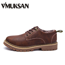 VMUKSAN Hot Winter Shoes Men Big Size 38-47 Plush Winter Boots Men Super Warm Mens Snow Boots Footwear(China)