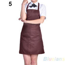 2017 NEW 8pcs lot Fashion Plain Apron with Front Pocket for Chefs Butchers Kitchen Cooking