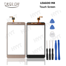 LEAGOO M8 Touch Screen Original Touch Panel Perfect Repair Parts for LEAGOO M8 Mobile Phone Digitizer Free Shipping +3M Tape