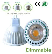 newest dimmalbe led Spotlights mr16 4000k nature white day white led spot light white aluminum shell