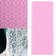 PREUP Silicone Lace Mat Cake Lace Mold Silicone Sugar Lace Mat Fondant Embossed Mold Cake Decorating Mould Baking Tool