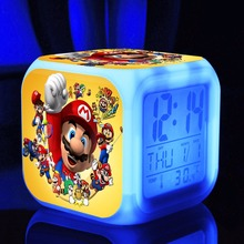 toys & hobbies Super mario bros s dolls Digital action toy figures Thermometer Night Colorful supermario Glowing toys