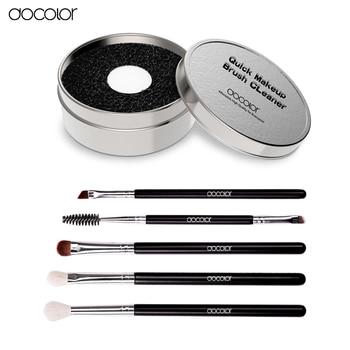 Docolor тени щетки с кистью чистый box горячие продажи makeup brush set ежедневно макияж необходимые инструменты глаз кисти