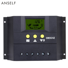 12V/24V 50A Auto Solar Regulator Solar Charger Controllers LCD Display Solar Battery Charge Controller PWM Charging for Lighting(China)