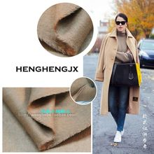 Autumn and winter short smooth hair cashmere Camel double-sided cashmere fabric double-layer smooth hair