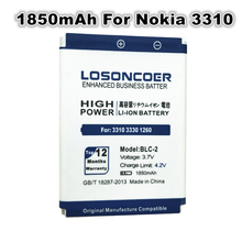 1850mAh BLC-2 Battery Batteries For Nokia 3310 3330 3410 3510 5510 3530 3335 3686 3685 3589 3315 3350 3510 6650 6800 3550(China)