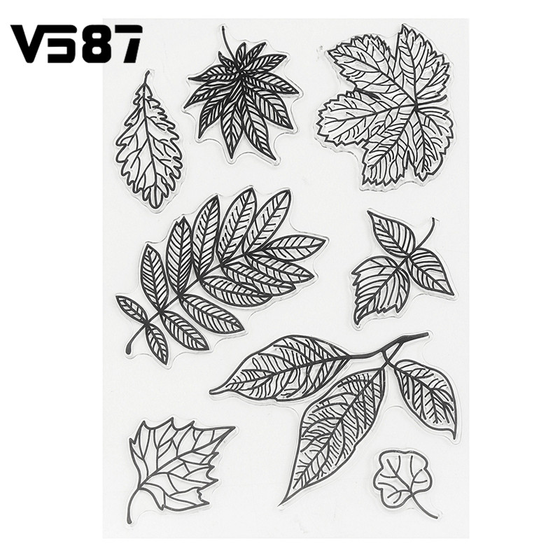 Silicone Stamps Sheet DIY Leaves Transparent Clear for DIY Scrapbooking Card Making Kids Craft Decoration Supplies<br><br>Aliexpress