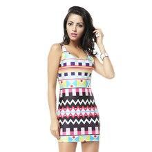 MWBAY Autumn Vintage Dress MOROCCAN DRESS Tank Digital Print Women Sexy  Mini Bodycon Dresses Women Party Club Clothing 48b067e91404