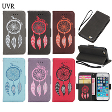 UVR For iPhone 5S Case Retro Wind Bell Bag For iPhone 5 Cover SE i5 S Cover Vintage Wallet Case Collapsible Kickstand(China)