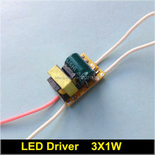 50 pcs/lot LED Driver 3X1W 85-265V for high power 3W led lamp E27 E14 GU10 B22 transformer power supply 300ma Constant Current