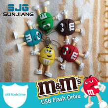 chocolate M&M pen drive USB Flash Drive 4GB 8gb 16gb 32gb 64g USB Stick memory Pendrive U Disk creative lovely fun Gift HOT SALE