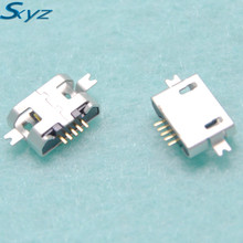 10pcs/lot 5pin Female Micro USB Connector Socket SMD 2 feet Widely Used In Tablet Phone PDA Charging