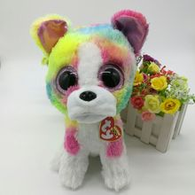"ISLA rainbow dog TY BEANIE BOOS 25CM 10"" BIG EYE Plush Toys Stuffed animals KIDS TOYS Children toy home decor(China)"