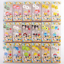 Cartoon Tsum Tsum 3.5mm Cartoon Retractable Earphone In-earphone for Mobile Phone MP3 Player