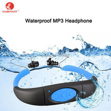 Waterproof MP3 Headphone,Sport Music 4GB/8GB Memory&Radio FM Head Wearing MP3 Players Diving Swim Waterproof IPX8, Free Shipping