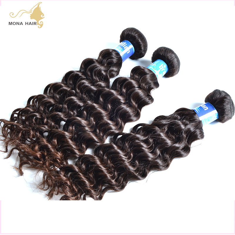 Brazilian Human Hair,Natural Color Pure 8A Brazilian Deep Wave Virgin Hair 1 Piece, No Shed&amp;Tangle Hair Can Be Dyed Or Perm<br><br>Aliexpress
