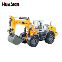 2 Types Big Size Diecast Alloy Construction Vehicle Engineering Car Excavator Drilling Machine Model Classic Toy Gift For Boy