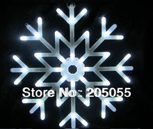 Snowflakes LED fairy String Light snow flake rope motif 40 bulb Indoor/Outdoor Christmas Xmas tree Decor Bracket lamp 220V WHITE