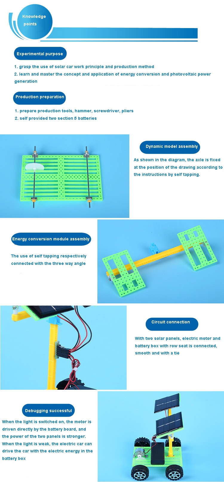 Wholesale Diy Technology Small Solar Powered Car Assembled Puzzle Do Panels Work How Diagram For Kids All Children Must Have A Desire To Their Own Interesting Toys Activity 14 In 1 Toy With Deform Boats Cars