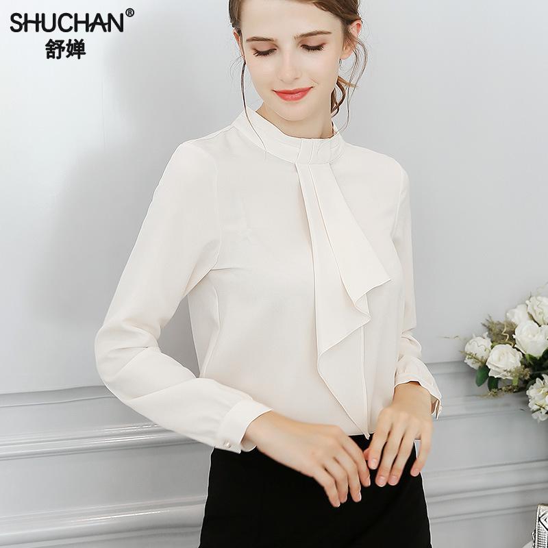 prix raisonnable meilleur choix produits chauds SHUCHAN Office Shirt Blouse Chemise Femme Long Sleeve Women ...