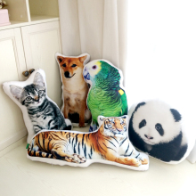 Zoo cat, animal cushion for pillows and pillows on the cushion of the sofa car children room window decoration