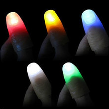 hey funny 10PCS Funny Novelty Gag LED Light Flashing Fingers Magic Trick Props Kids Amazing Fantastic Glow Toys Children